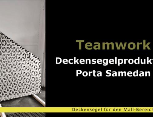 Teamwork – Deckensegelproduktion Porta Samedan
